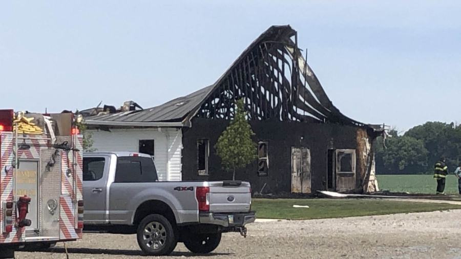 Church fire in Darke county