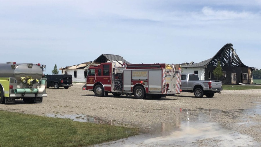 Church fire in darke county 2