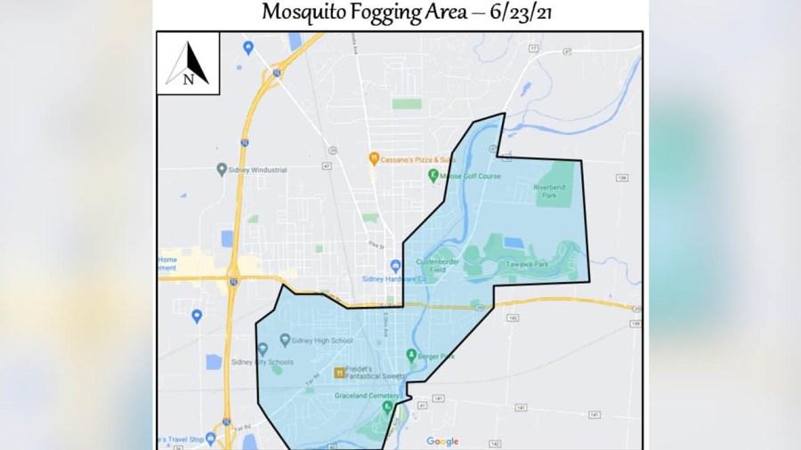 Mosquito fogging area Sidney
