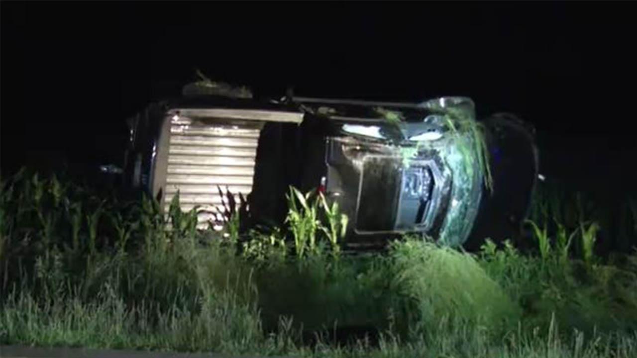 rollover crash greene county