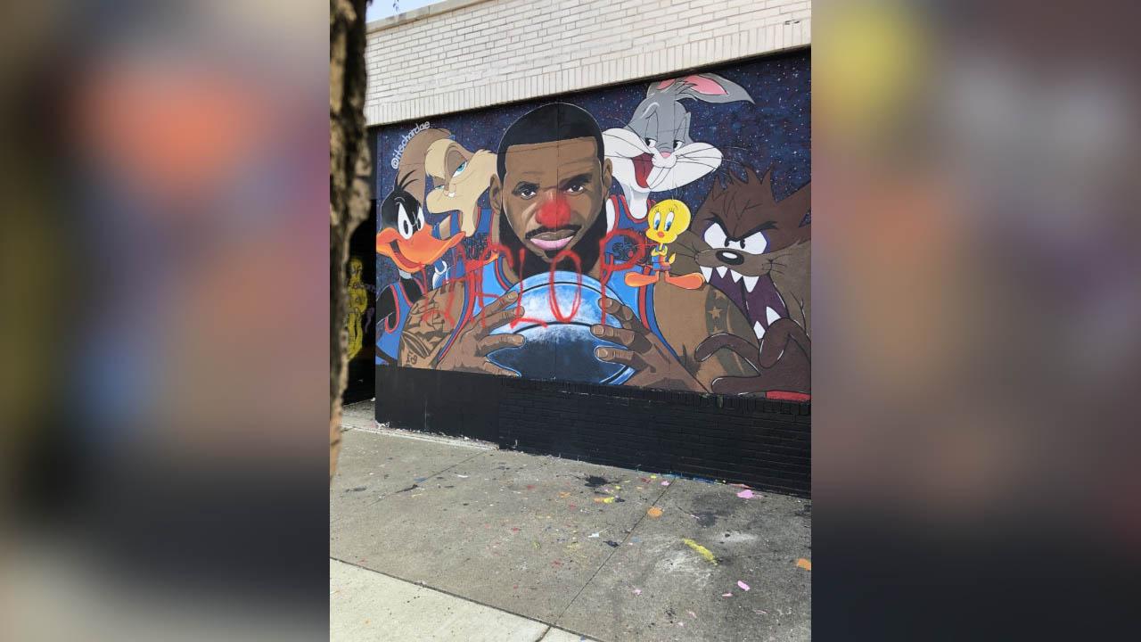 Lebron Mural vandalized