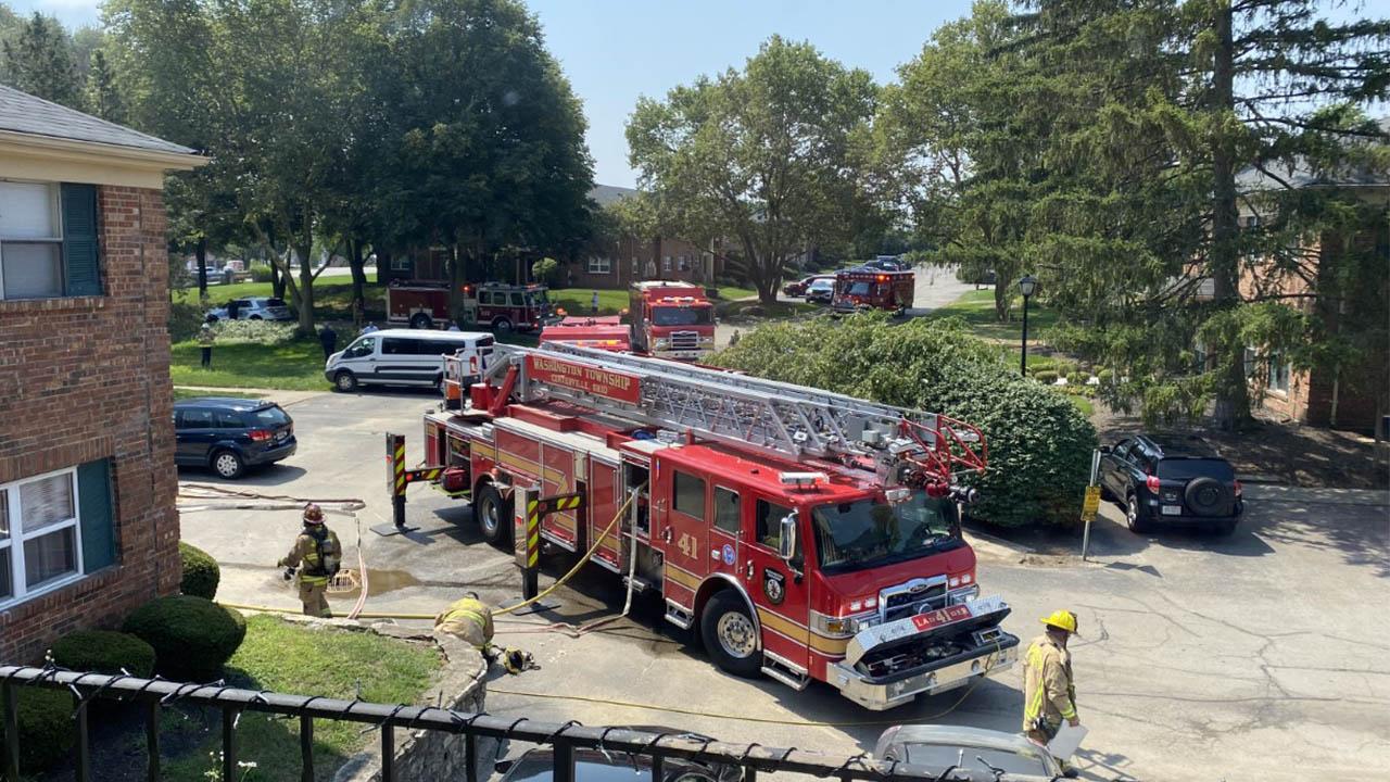 Revere Village Court fire Washington Twp.
