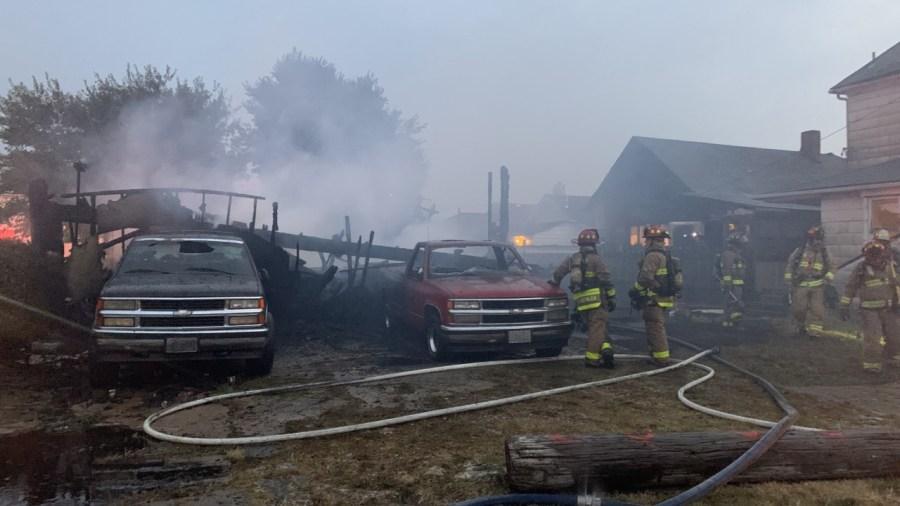 Garage fire Dayton